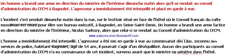 Le ministre de l'intérieur échappe de peu à la mort ... Atentat_ministre